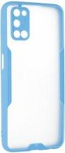 Oppo A52 Kılıf Kamera Lens Korumalı Arkası Şeffaf Silikon Kapak - Mavi
