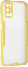 Oppo A52 Kılıf Kamera Lens Korumalı Arkası Şeffaf Silikon Kapak - Sarı