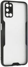 Oppo A52 Kılıf Kamera Lens Korumalı Arkası Şeffaf Silikon Kapak - Siyah