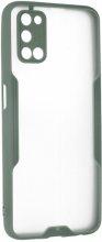 Oppo A52 Kılıf Kamera Lens Korumalı Arkası Şeffaf Silikon Kapak - Yeşil
