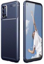 Oppo A52 Kılıf Karbon Serisi Mat Fiber Silikon Kapak - Lacivert