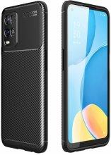 Oppo A54 Kılıf Karbon Serisi Mat Fiber Silikon Negro Kapak - Siyah