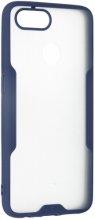 Oppo Ax7 Kılıf Kamera Lens Korumalı Arkası Şeffaf Silikon Kapak - Lacivert