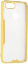 Oppo Ax7 Kılıf Kamera Lens Korumalı Arkası Şeffaf Silikon Kapak - Sarı