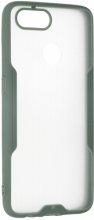 Oppo Ax7 Kılıf Kamera Lens Korumalı Arkası Şeffaf Silikon Kapak - Yeşil