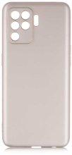 Oppo Reno 5 Lite Kılıf İnce Mat Esnek Silikon - Gold