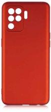 Oppo Reno 5 Lite Kılıf İnce Mat Esnek Silikon - Kırmızı