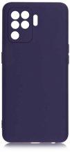 Oppo Reno 5 Lite Kılıf İnce Mat Esnek Silikon - Lacivert