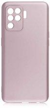 Oppo Reno 5 Lite Kılıf İnce Mat Esnek Silikon - Rose Gold