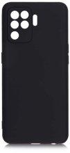 Oppo Reno 5 Lite Kılıf İnce Mat Esnek Silikon - Siyah