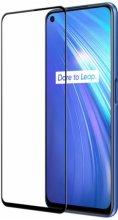Oppo Reno 5 Lite Tam Kapatan 5D Kenarları Kırılmaya Dayanıklı Cam Ekran Koruyucu - Siyah
