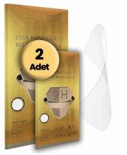 Realme C2 Ekran Koruyucu Gold Nano Esnek 2li Paket - Şeffaf