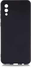 Samsung Galaxy A02 Kılıf İnce Mat Esnek Silikon - Siyah