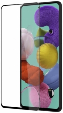 Samsung Galaxy A51 5D Tam Kapatan Kenarları Kırılmaya Dayanıklı Cam Ekran Koruyucu - Siyah