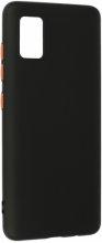 Samsung Galaxy A51 Kılıf İçi Kadife Esnek Silikon Renkli Tuşlu - Siyah