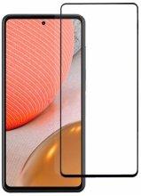 Samsung Galaxy A72 5D Tam Kapatan Kenarları Kırılmaya Dayanıklı Cam Ekran Koruyucu - Siyah