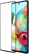 Samsung Galaxy M31s 5D Tam Kapatan Kenarları Kırılmaya Dayanıklı Cam Ekran Koruyucu - Siyah