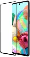 Samsung Galaxy M51 5D Tam Kapatan Kenarları Kırılmaya Dayanıklı Cam Ekran Koruyucu - Siyah