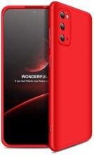 Samsung Galaxy S20 FE Kılıf 3 Parçalı 360 Tam Korumalı Rubber AYS Kapak - Kırmızı