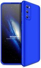 Samsung Galaxy S20 FE Kılıf 3 Parçalı 360 Tam Korumalı Rubber AYS Kapak - Mavi