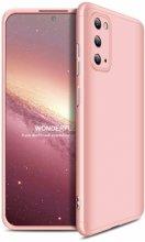 Samsung Galaxy S20 FE Kılıf 3 Parçalı 360 Tam Korumalı Rubber AYS Kapak - Rose Gold