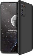 Samsung Galaxy S20 FE Kılıf 3 Parçalı 360 Tam Korumalı Rubber AYS Kapak - Siyah