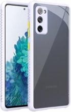 Samsung Galaxy S20 FE Kılıf Camlı Silikon KAFF Kapak - Lila