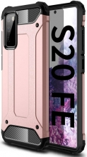 Samsung Galaxy S20 FE Kılıf Zırhlı Tank Crash Silikon Kapak - Rose Gold