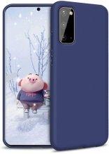 Samsung Galaxy S20 FE Kılıf İnce Mat Esnek Silikon - Lacivert