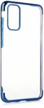 Samsung Galaxy S20 FE Kılıf Renkli Köşeli Lazer Şeffaf Esnek Silikon - Mavi