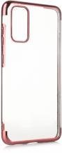 Samsung Galaxy S20 FE Kılıf Renkli Köşeli Lazer Şeffaf Esnek Silikon - Rose Gold