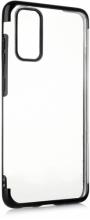 Samsung Galaxy S20 FE Kılıf Renkli Köşeli Lazer Şeffaf Esnek Silikon - Siyah