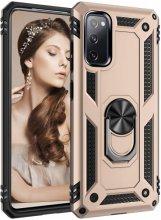 Samsung Galaxy S20 FE Kılıf Zırhlı Standlı Vega Kapak - Gold
