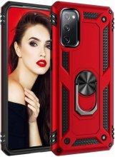 Samsung Galaxy S20 FE Kılıf Zırhlı Standlı Vega Kapak - Kırmızı