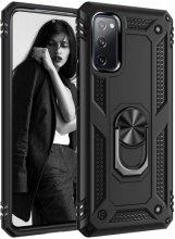 Samsung Galaxy S20 FE Kılıf Zırhlı Standlı Vega Kapak - Siyah