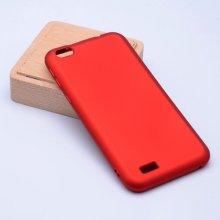 Vestel Venus E2 Plus Kılıf İnce Mat Esnek Silikon - Kırmızı
