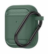 Wiwu APC005 Airpods Kılıf Karbon Zırh Şarj Kutu Koruyucu Kapak - Yeşil