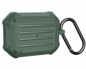 Wiwu APC006 Airpods Pro Kılıf Karbon Zırhlı Şarj Kutusu Kapak - Yeşil