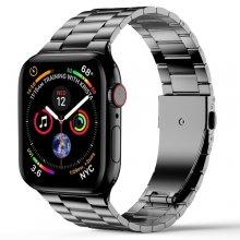 Wiwu Apple Watch 42mm Metal Kordon İnce Thin Three Beads - Gri