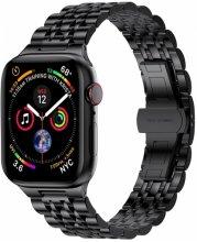 Wiwu Apple Watch 42mm Metal Kordon Seven Beads Steel Belt - Siyah
