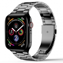 Wiwu Apple Watch 44mm Metal Kordon İnce Thin Three Beads - Gri