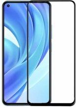 Xiaomi Mi 11 Lite Kırılmaz Cam Kenarları Kırılmaya Dayanıklı 5D Ekran Koruyucu - Siyah