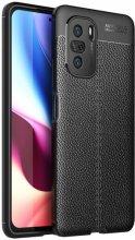 Xiaomi Poco F3 Kılıf Deri Görünümlü Parmak İzi Bırakmaz Niss Silikon - Siyah