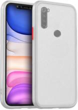 Xiaomi Redmi Note 8 Kılıf Exlusive Arkası Mat Tam Koruma Darbe Emici - Beyaz