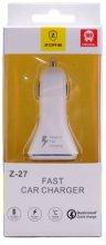 Zore Hızlı Araç Çakmaklık Şarj Cihazı Z27 - Beyaz