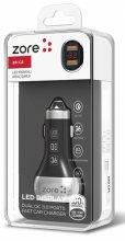 Zore ZR-C2 Micro-USB Araç Şarj Seti 2 Girişli - Siyah
