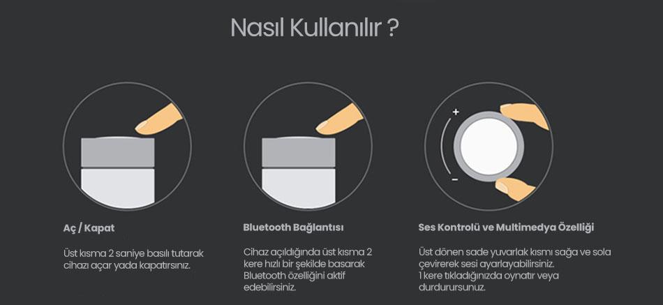 Xiaomi Mi Pocket Mini Bluetooth Hoparlör - Beyaz