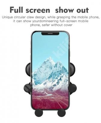 Ahtapot Otomatik Kavramalı Araç İçi Telefon Tutucu - Siyah