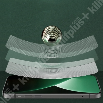 Benks Apple iPhone 12 (6.1) Ekran Koruyucu ​​​​0.3mm V Pro Dust Proof Green Light - Siyah