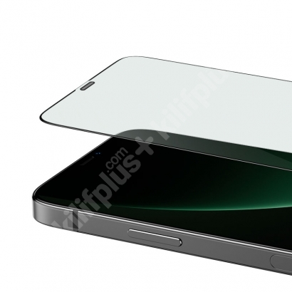 Benks Apple iPhone 12 Pro Max (6.7) Ekran Koruyucu 0.3mm V Pro Dust Proof Green Light - Siyah